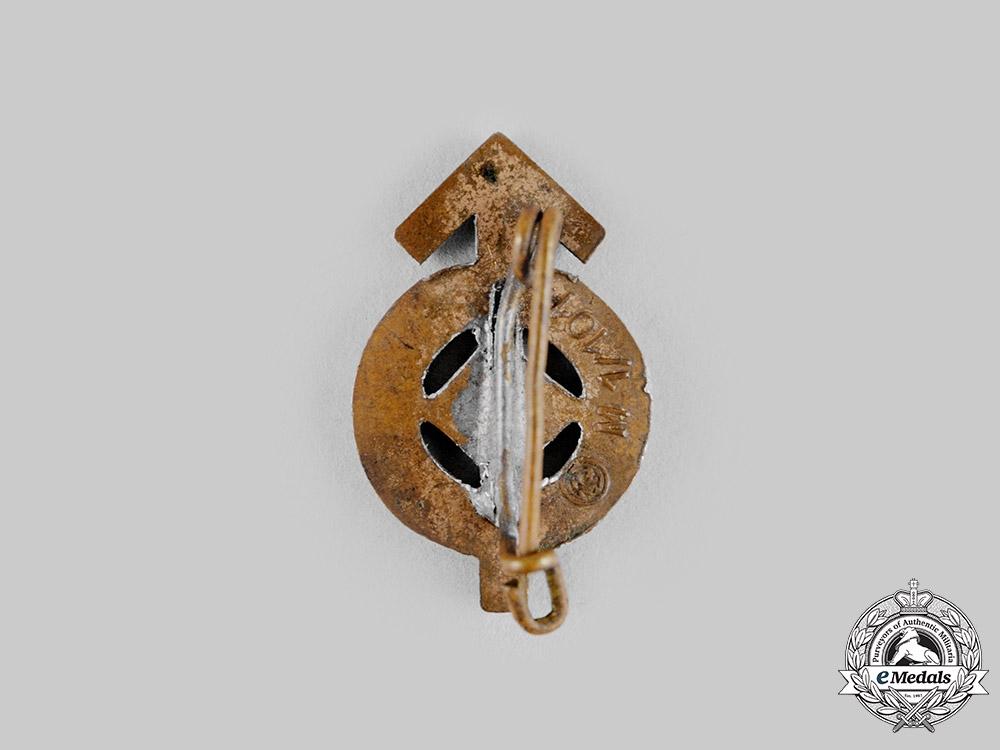 Germany, HJ. A HJ Merit Badge Miniature by Gustav Brehmer