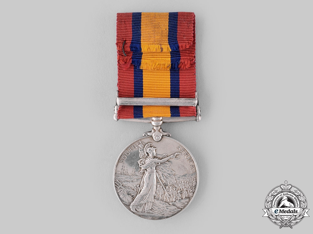United Kingdom. A Queen's South Africa Medal 1899-1902, to Private A. North, 3rd Hussars