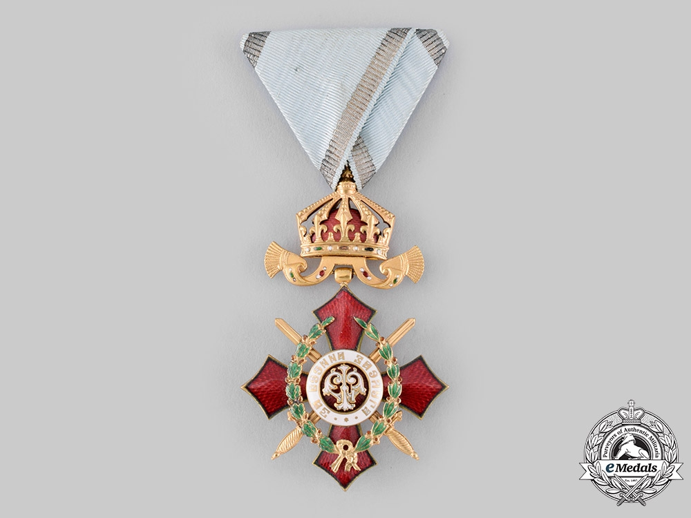 Bulgaria, Kingdom. An Order of Military Merit, V Class with War Decoration Case, c. 1918