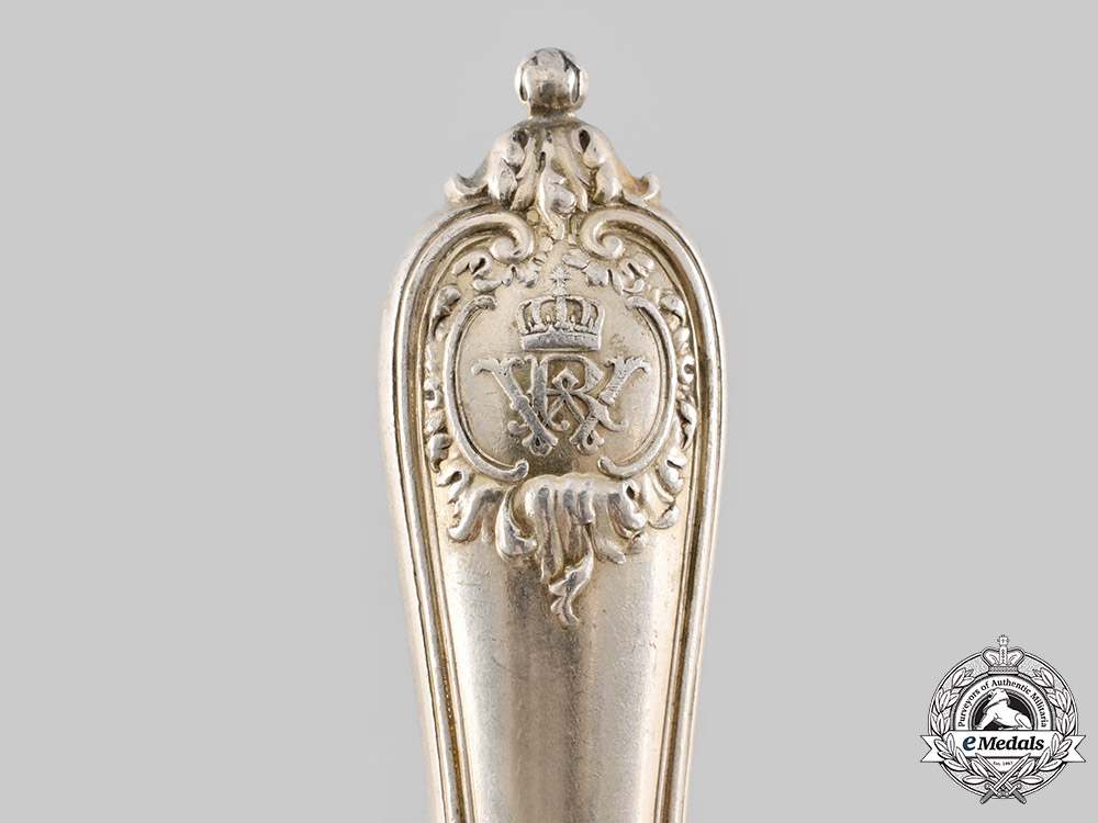 Germany, Imperial. A Kaiser Wilhelm II Silver Butter Knife, by D. Vollgold & Sohn