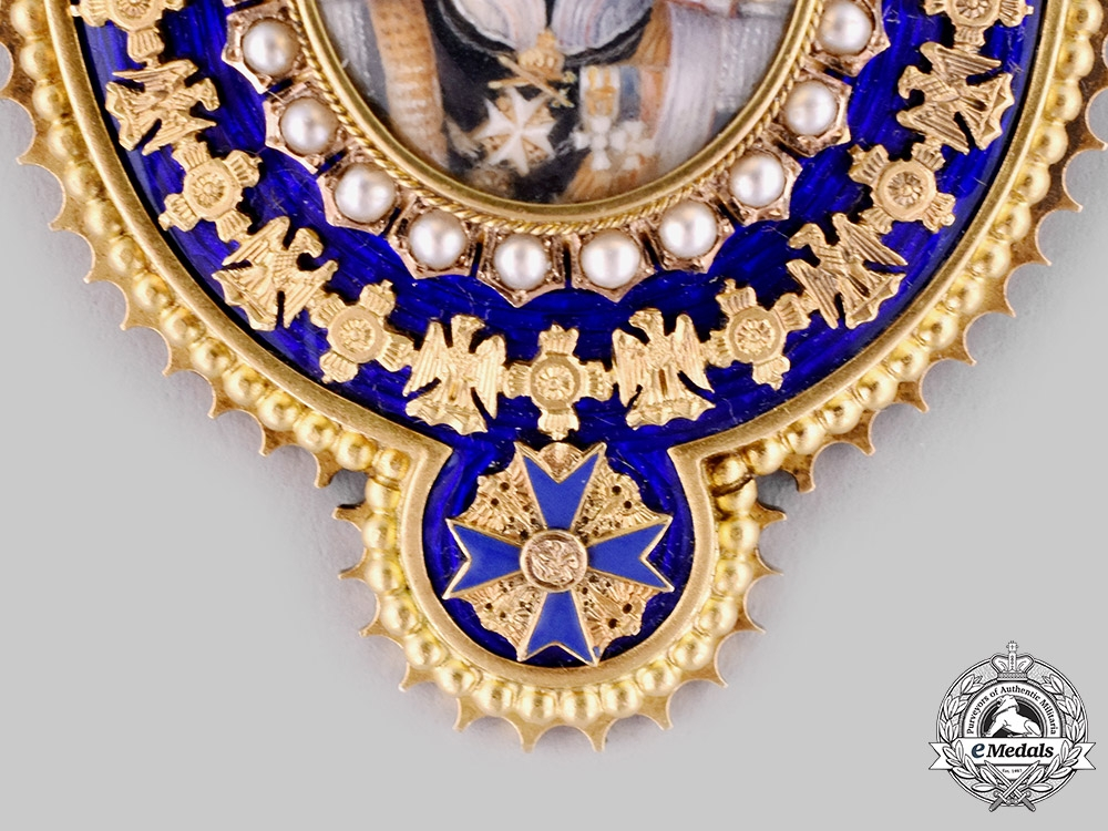 Prussia, Kingdom. A Family Order of Wilhelm II Portrait in Gold, Diamonds and Pearls, c. 1910