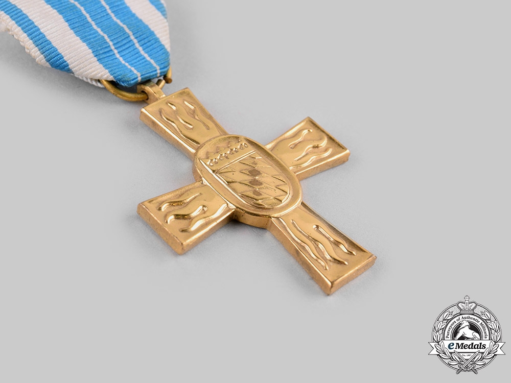 Germany, Federal Republic. A Bavarian State Fire Brigade 50-Year Long Service Cross