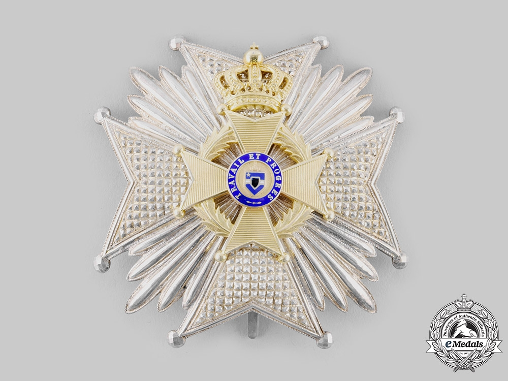 Belgium, Kingdom. An Order of Leopold II, Officer's Star with Case, by G. Wolfers, c.1900