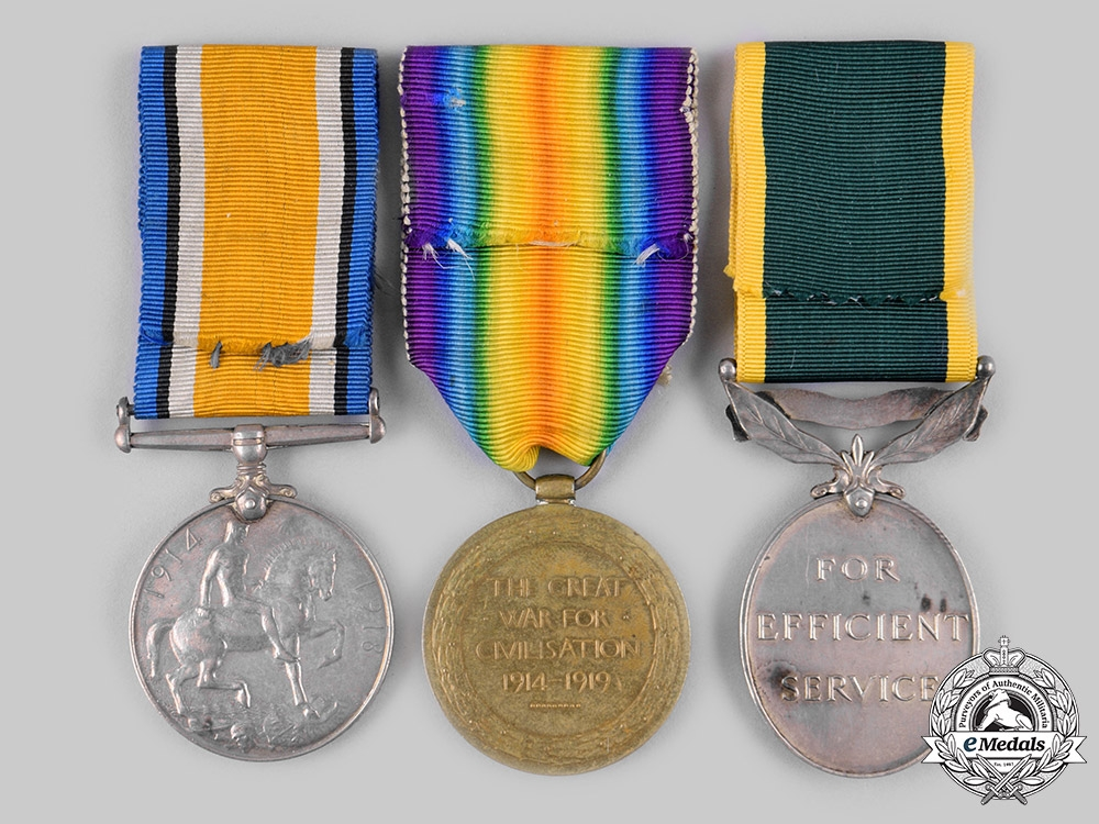 Canada, CEF. An Efficiency Medal Group, Queen's Own Rifles of Canada