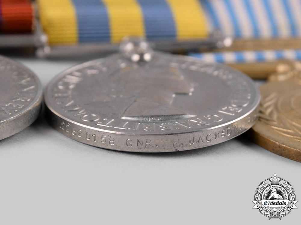 United Kingdom. A Second War and Korean War Group, Royal Artillery