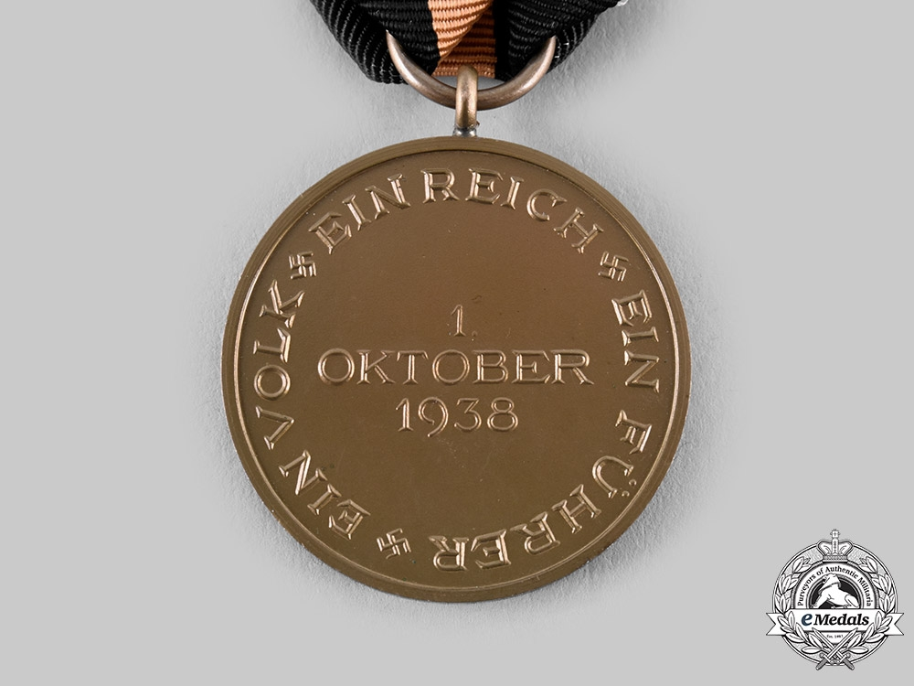 Germany, Third Reich. 1 October 1938 Medal (Sudetenland Medal), with Case