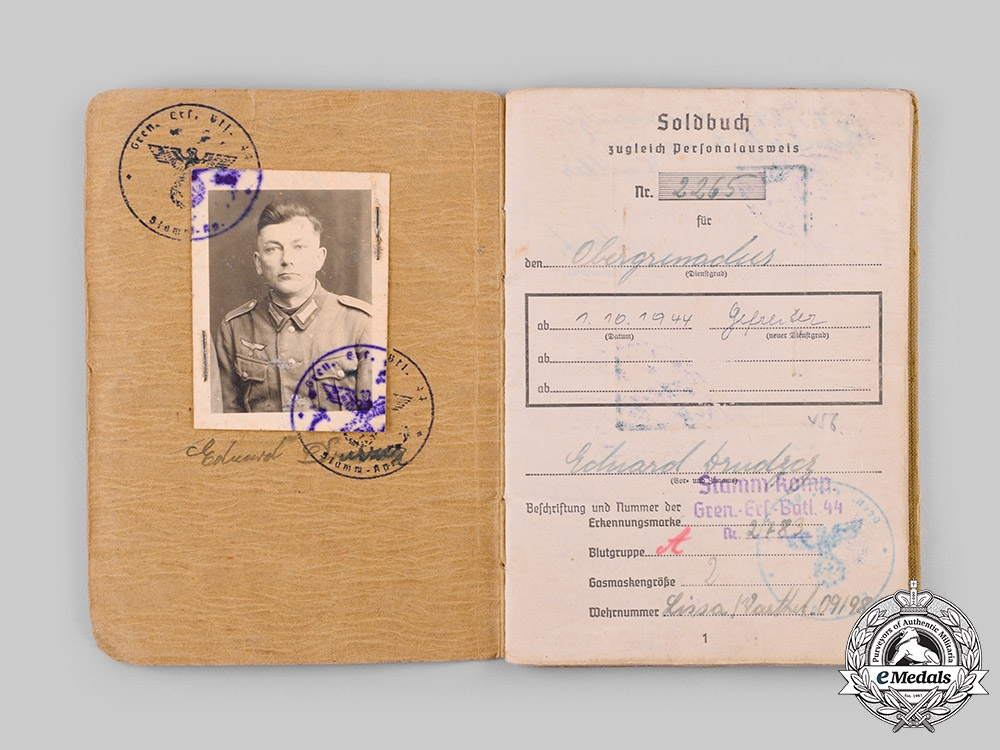 Germany, Heer. A Lot of Awards and Documents to Eduard Druszcz