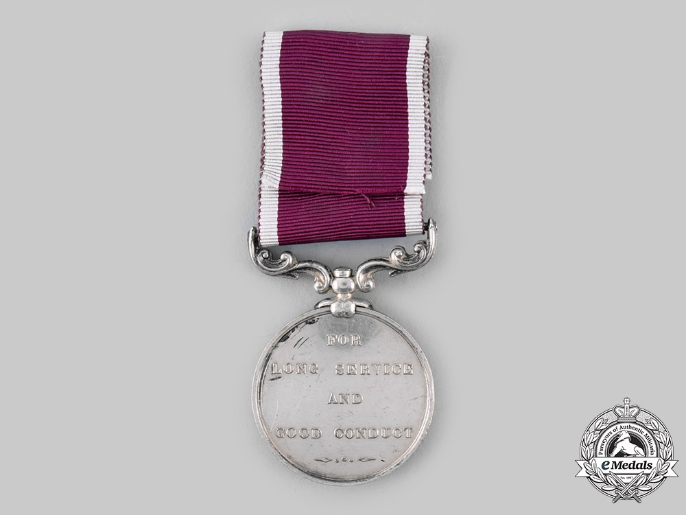 United Kingdom. An Army Long Service & Good Conduct Medal, Army Service Corps