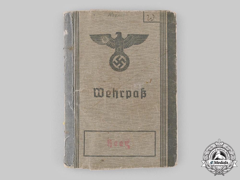 Germany, Heer. A Wehrpass & Award Documents to Obergefreiter Karl-Heinz Wagner