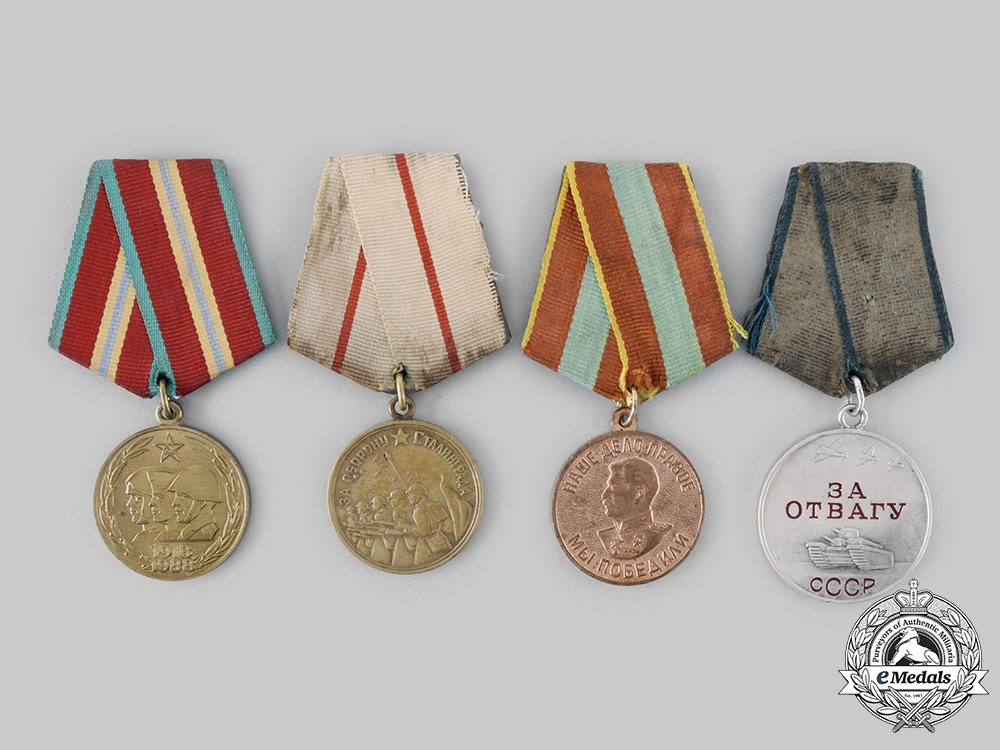Russia, Soviet Union. Four Medals & Awards
