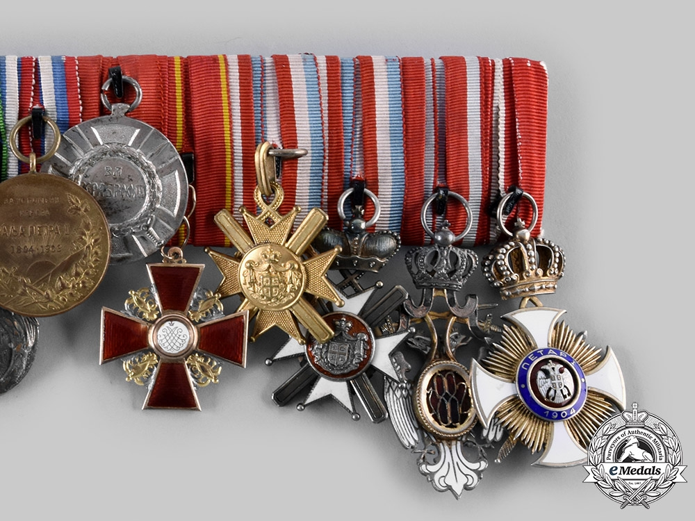 Serbia, Kingdom. A Very Fine Officer's Group of 13, who Served in the Four Wars
