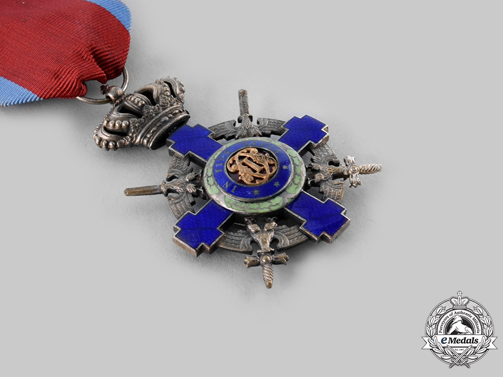 Romania, Kingdom. An Order of the Star of Romania, V Class Knight, Military Division, c.1940