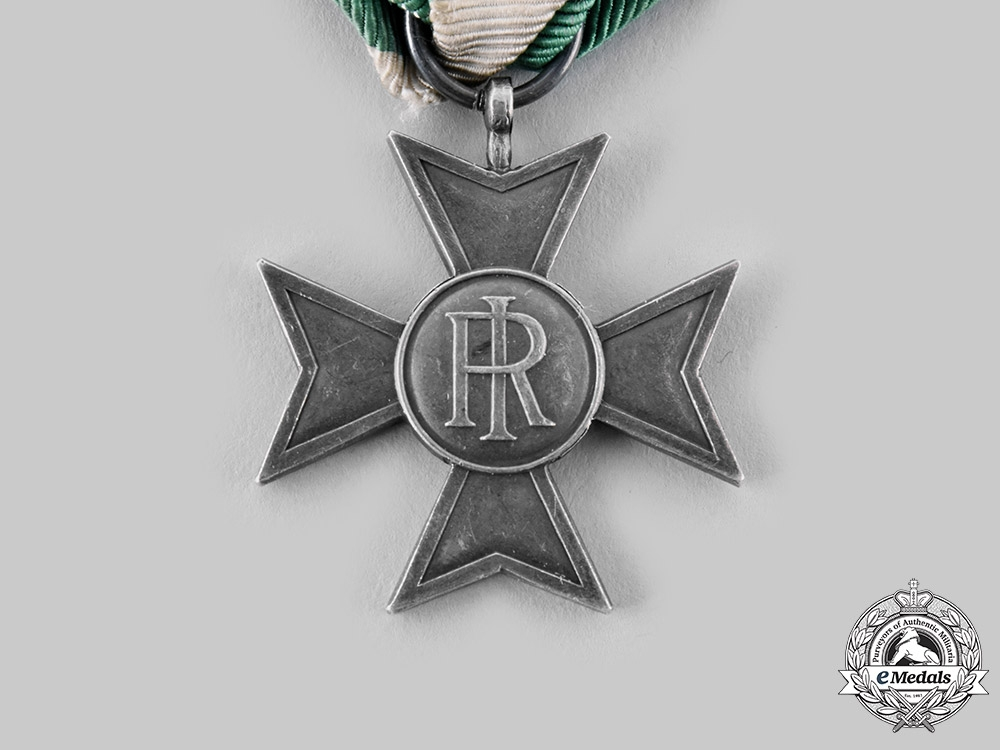 Italy, Kingdom. A Long Service Cross, Silver Grade for Twenty-Five Years Service Seniority, c.1900