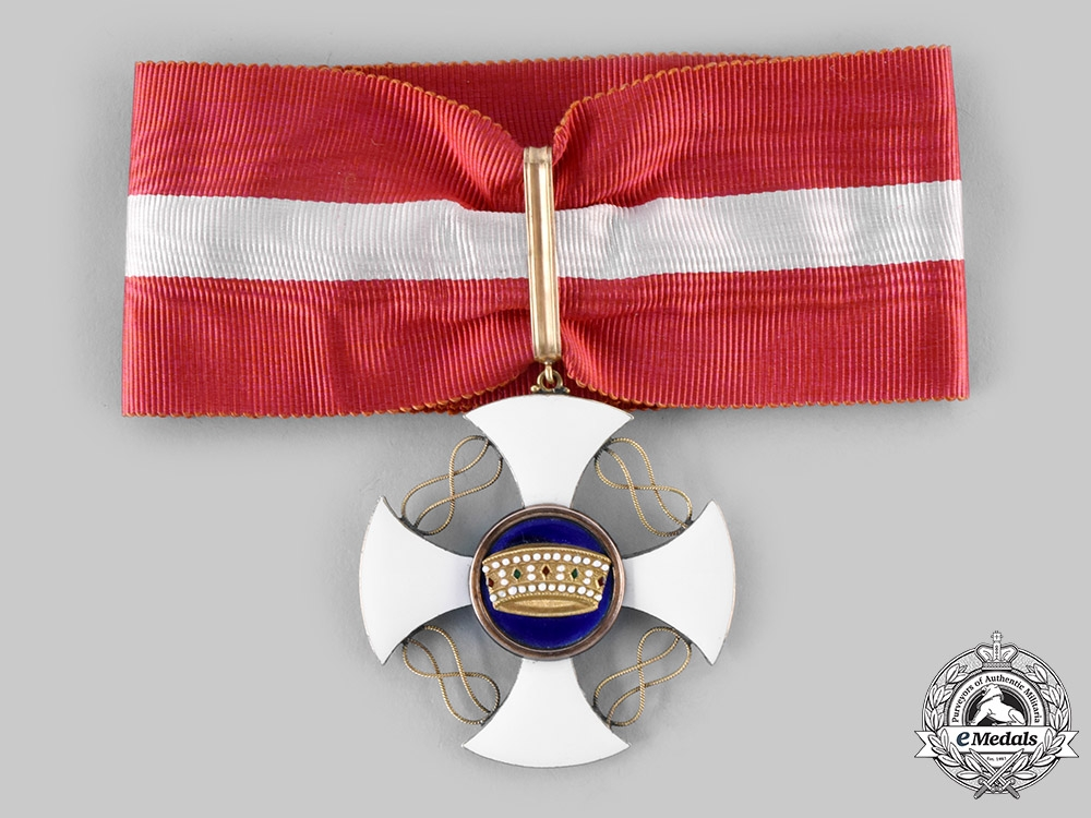Italy, Kingdom. An Order of the Crown in Gold, Commander, c. 1900