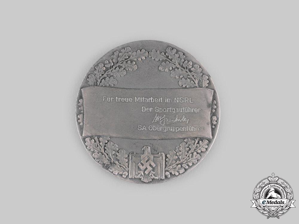 Germany, NSRL. A Gau Südwest Faithful Service Medal with Case