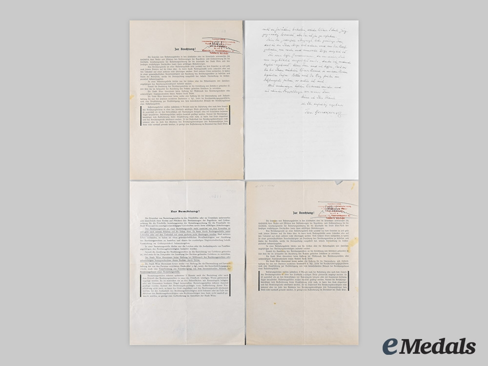 Germany, NSDAP. A Lot of Letters & Obituaries of Former NSDAP Members from the Estate of Widow of Seyß-Inquart