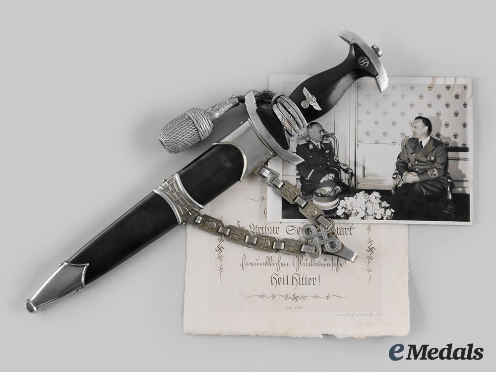 Germany, SS. A Model 1936 Chained SS Leader's Dagger Belonging to SS-Obergruppenführer Arthur Seyss-Inquart