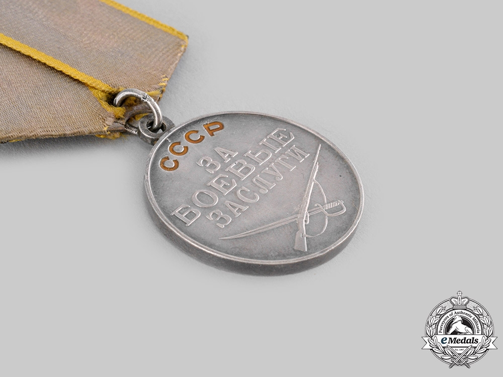 Russia, Soviet Union. Two Medals for Bravery & Combat