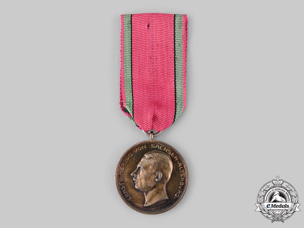 Saxe-Altenburg, Duchy. A Saxe-Ernestine House Order, Silver Merit Medal