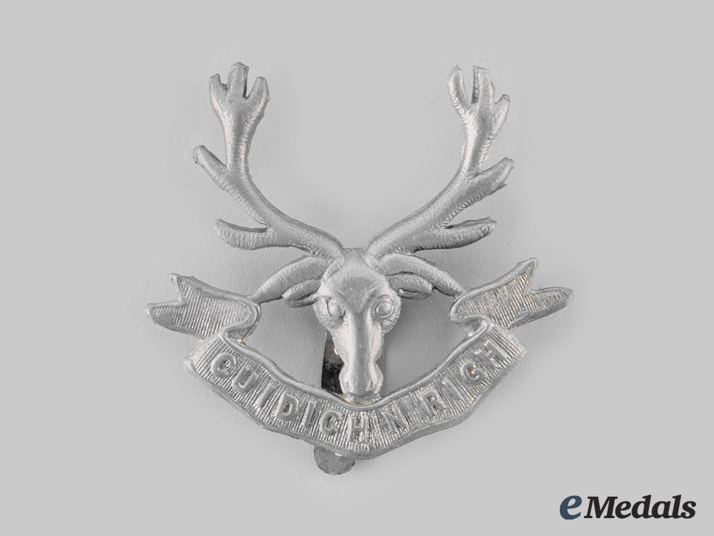 Canada, Dominion. A Pre First War Seaforth Highlanders Glengarry Badge, by William Scully, c. 1910