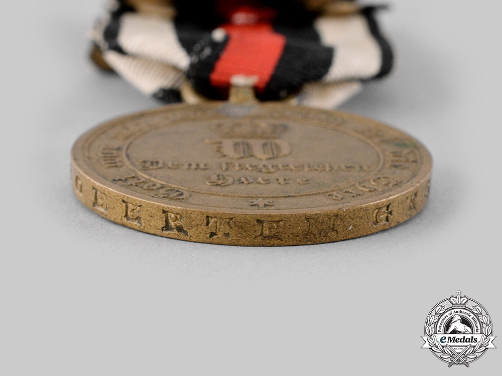 Germany, Imperial. A War Medal for Combatants 1870/1871, with Campaign Clasps