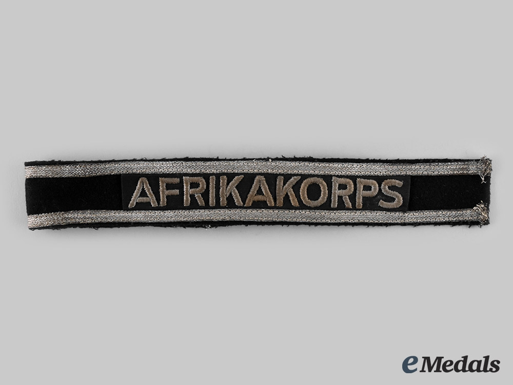 Germany, Wehrmacht. An Afrika Korps Panzer Unit Cuff Title
