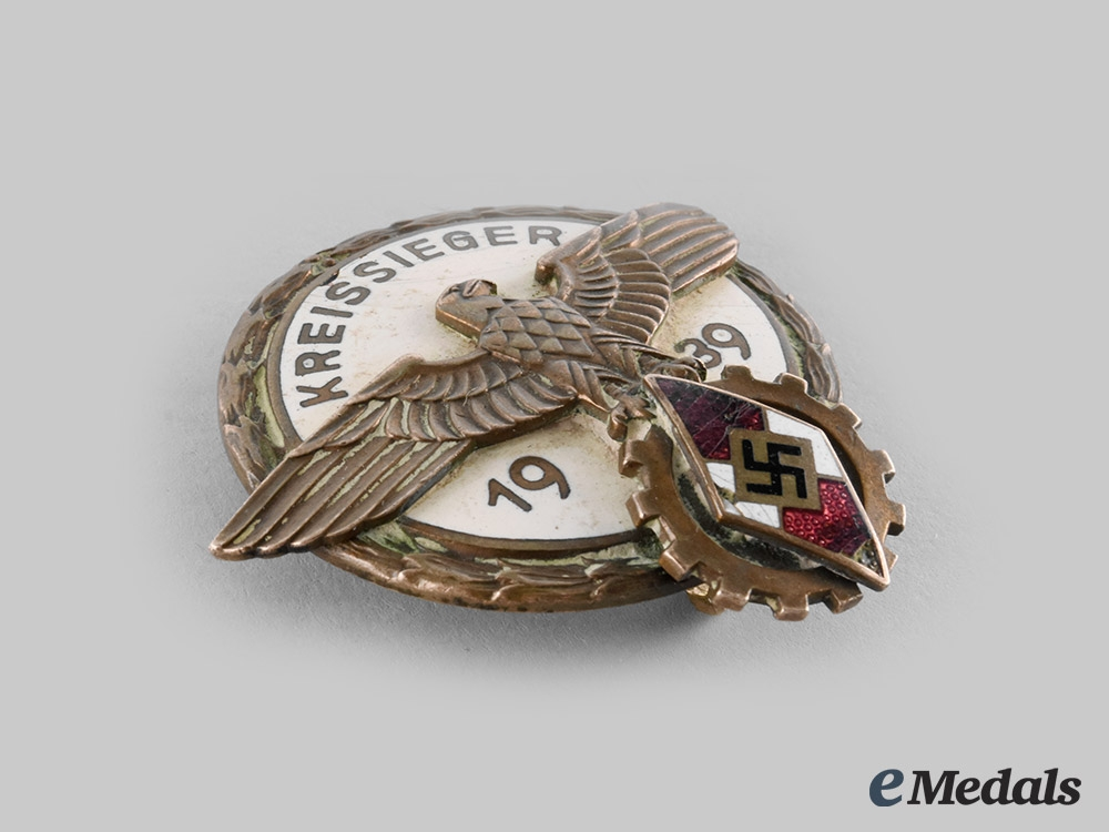 Germany, HJ. A 1939 National Trade Competition Victor's Badge, by A.H. Tham