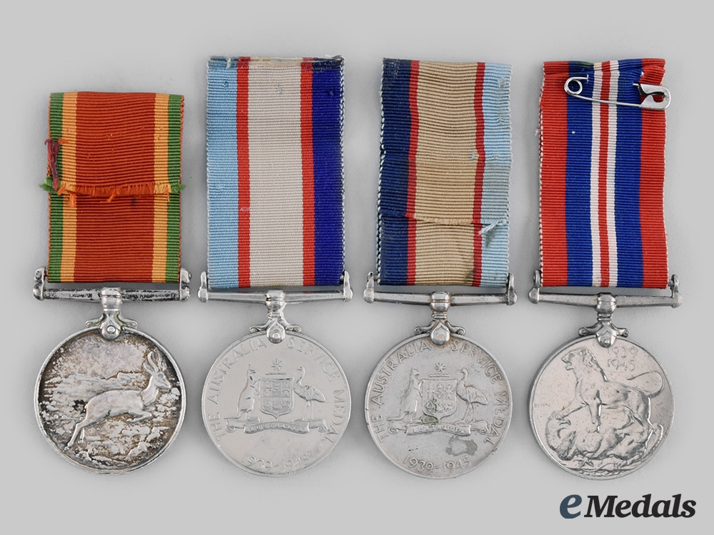 Australia, South Africa. Four Second War Campaign Medals