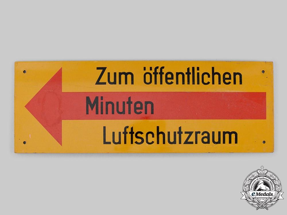 Germany, RLB. A National Air Raid Protection League Sign