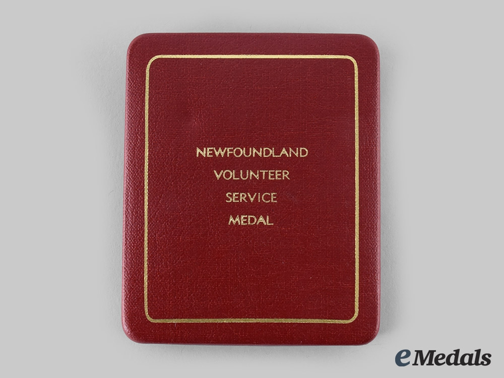 Canada, United Kingdom. A Newfoundland Volunteer War Service Medal Case