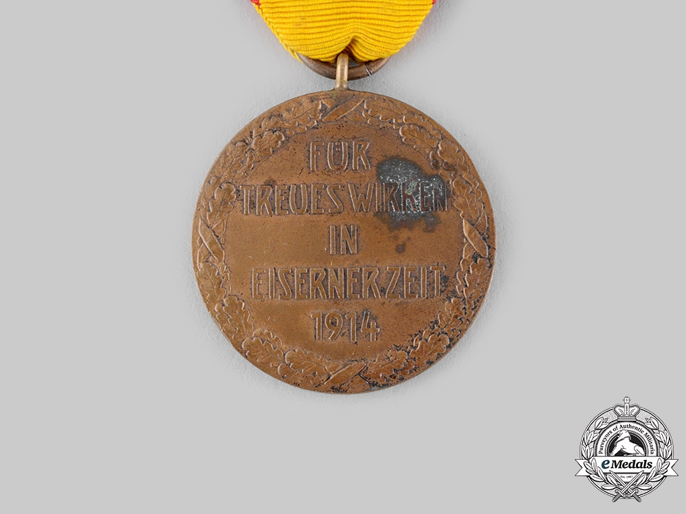 Reuss, Principality. A Medal for Sacrifice in Wartime, c.1915