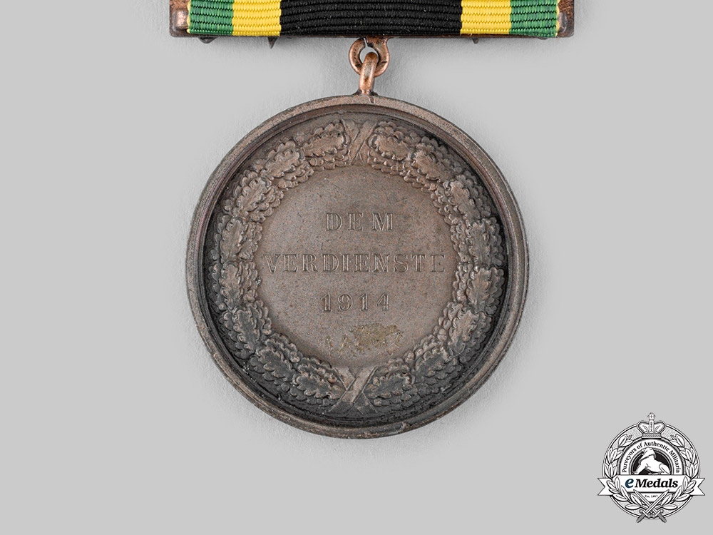Saxe-Weimar, Grand Duchy. A General Honour Decoration, Bronze grade, with Clasp, c.1916