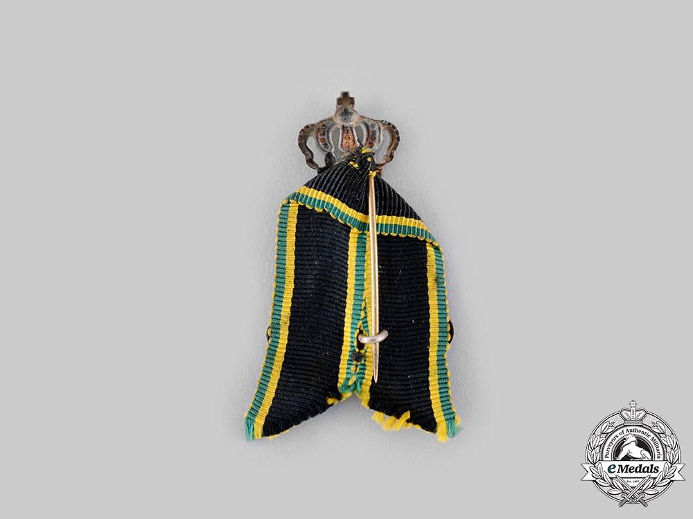 Saxe-Weimar, Grand Duchy. A Grand Duke Carl Alexander Patriotic Badge