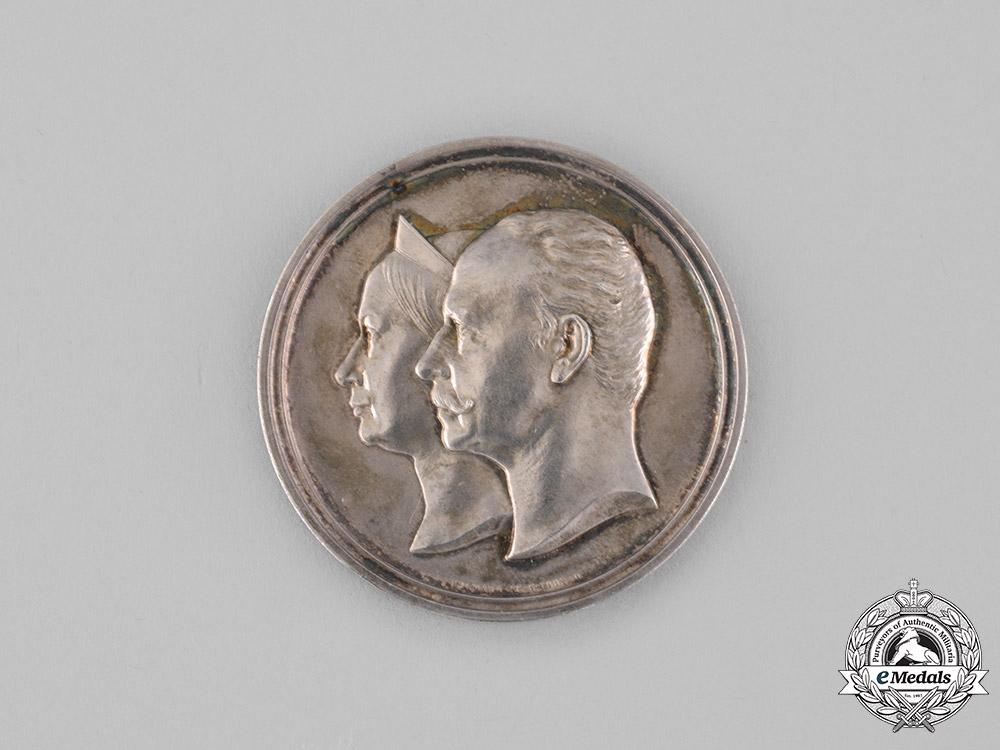 Saxe-Weimar, Grand Duchy. An 1892 Golden Wedding Anniversary Silver Medallion, by Gottfried Bernhard Loos
