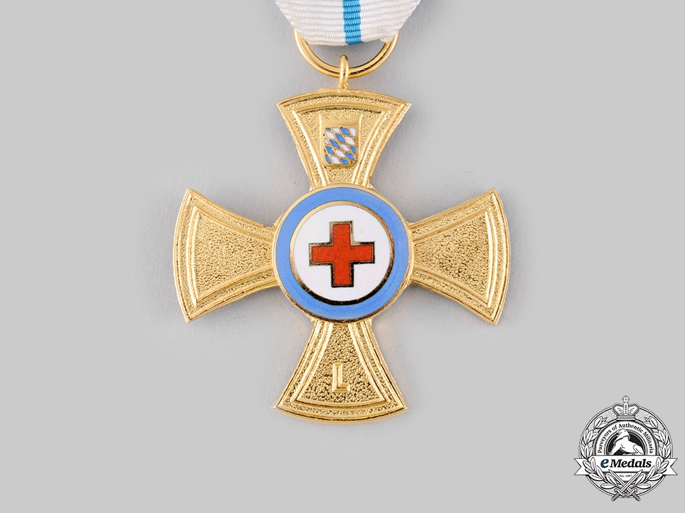 Germany, Federal Republic. A Bavarian Red Cross 50-Year Long Service Decoration