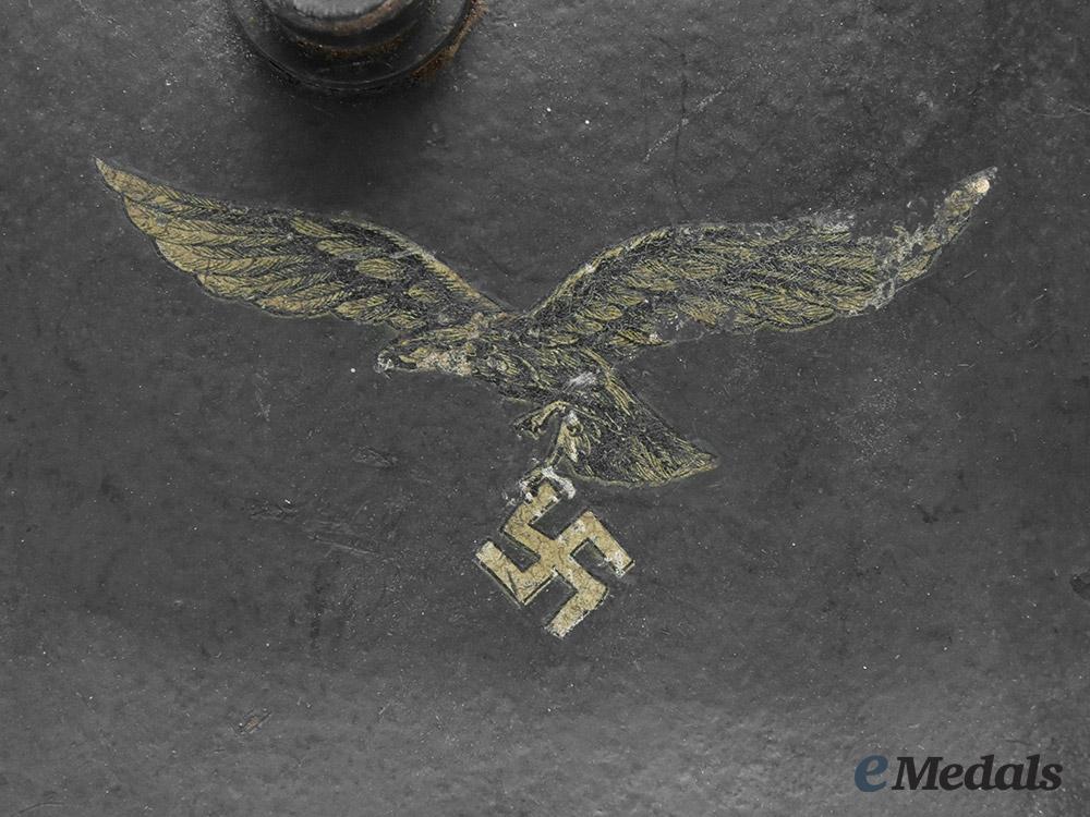 Germany, Luftwaffe. An M18 Transitional Luftwaffe Ear Cut Out Helmet