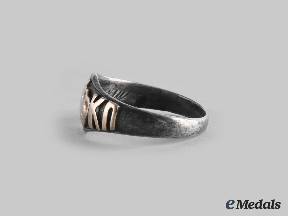 Russia, Imperial. A Privately Made Commemorative Ring, c. 1910