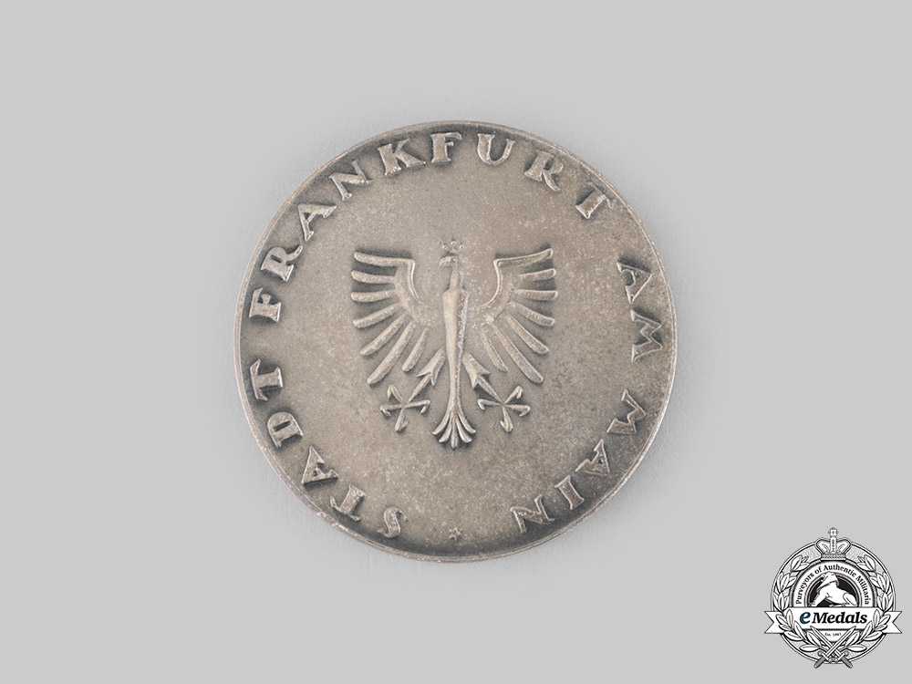 Germany, Federal Republic. A City of Frankfurt am Main Medal for Special Merit, Named