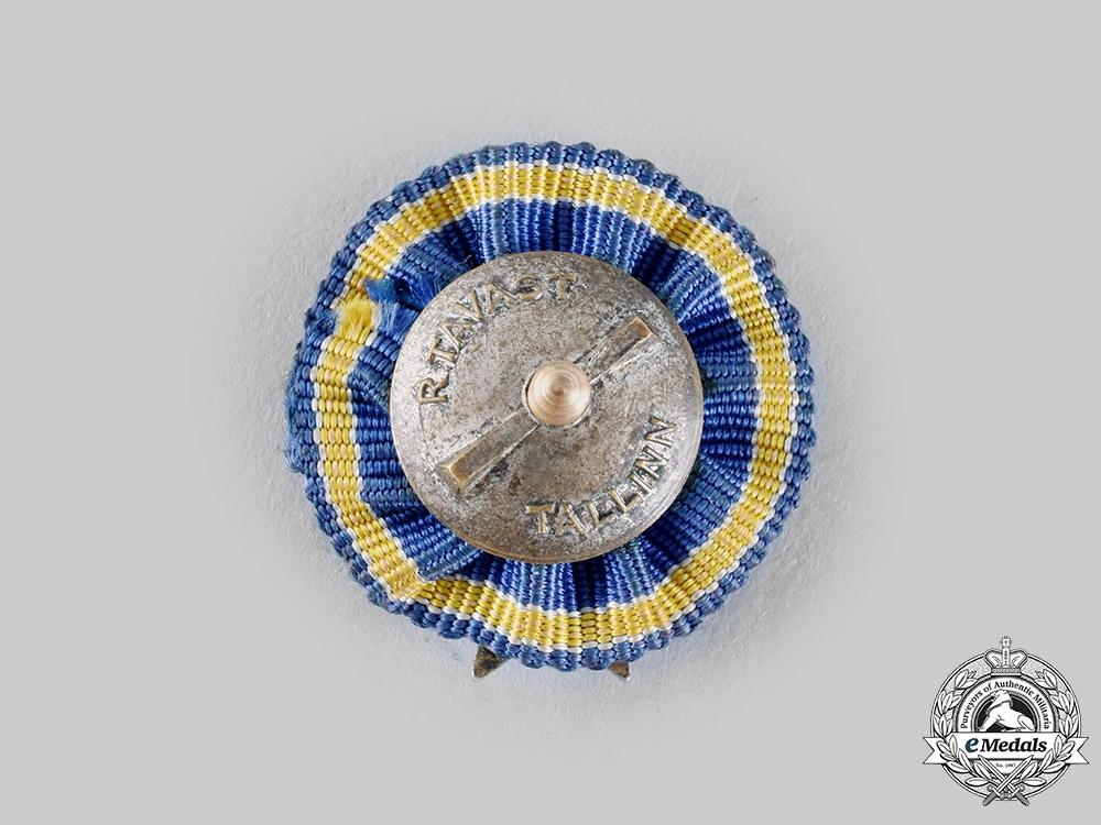 Estonia, Republic. A Miniature White Cross of the Civil Guard, c.1930