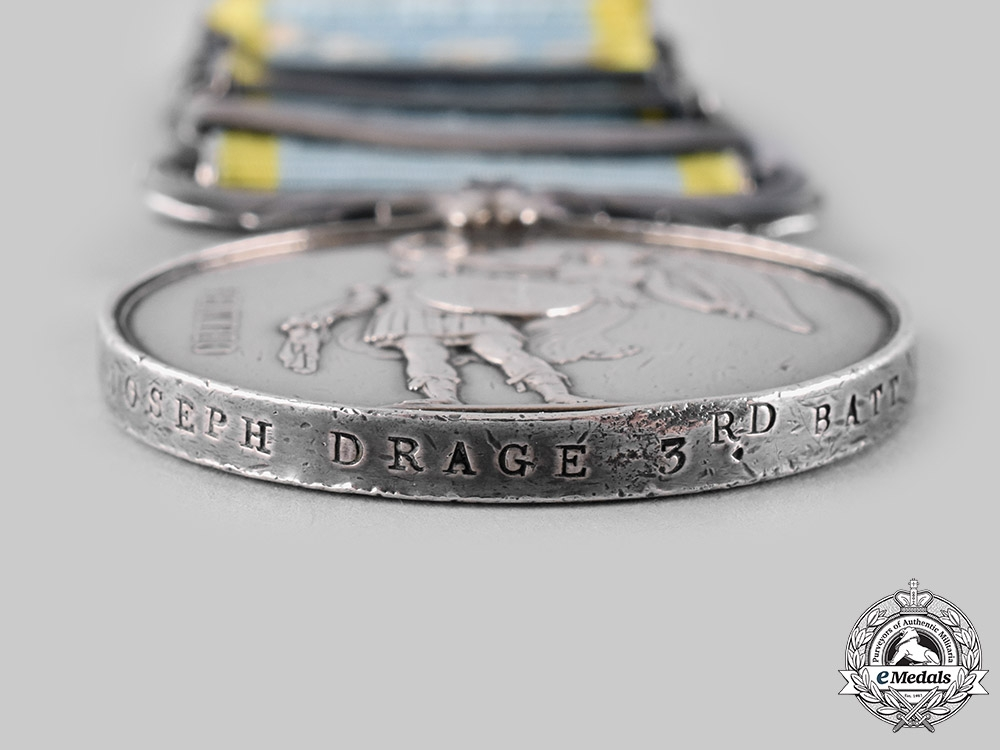 United Kingdom. A Crimean War Group to Colour Sergeant Joseph Drage, 3rd Battalion, Grenadier Guards