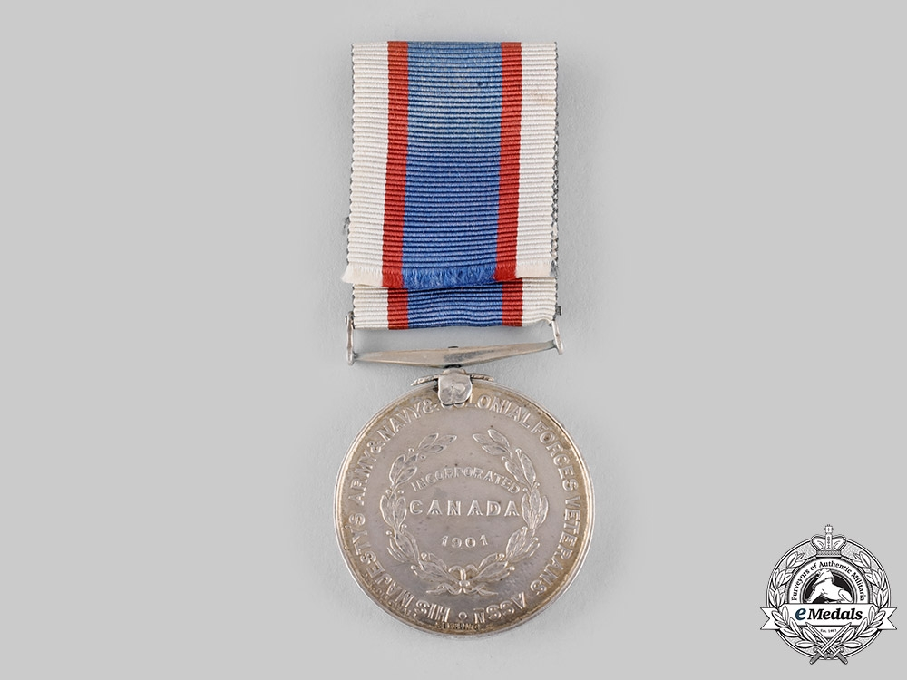 Canada, Dominion. A His Majesty's Army & Navy & Colonial Forces Veterans Association Medal 1901
