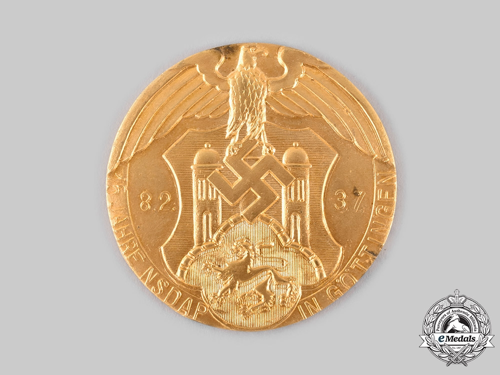 Germany, NSDAP. A 1937 Göttingen Gau Honour Prize, with Case, by Josef Feix & Söhne