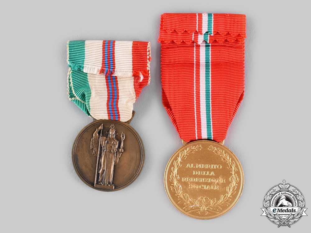 Italy, Republic. Two Medals