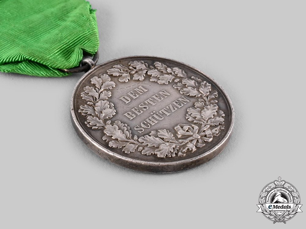 Saxony, Kingdom. A Silver Marksmanship Medal, by Max Barduleck