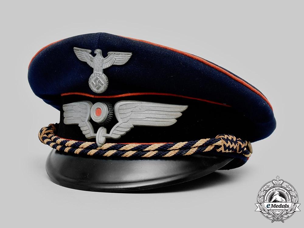Germany, Reichsbahn. An Official's Visor Cap by Carl Bangert