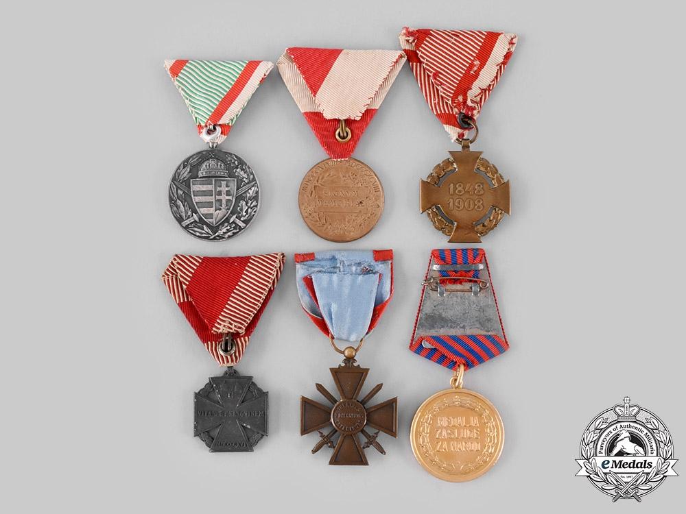 Austria, France, Hungary, Yugoslavia. A Lot of Six Medals & Decorations