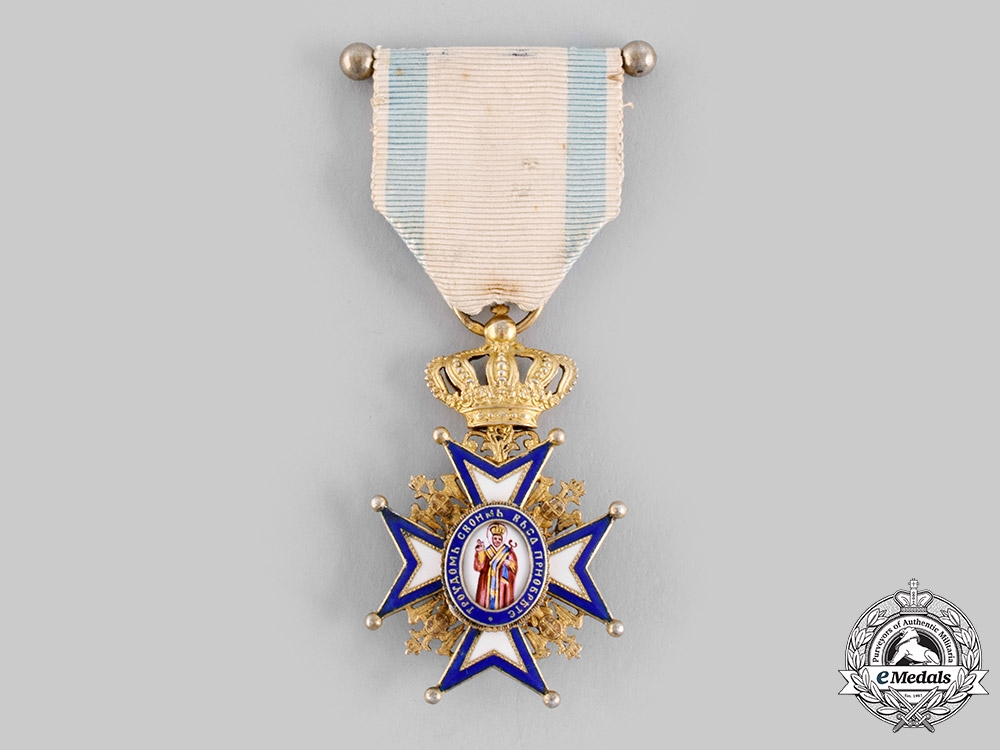 Serbia, Kingdom. An Order of St. Sava, IV Class Officer, c.1918