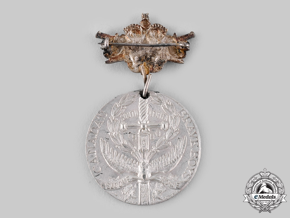 Canada, Dominion. A South African Service Canada's Brave Boys Welcome Home Medal 1900