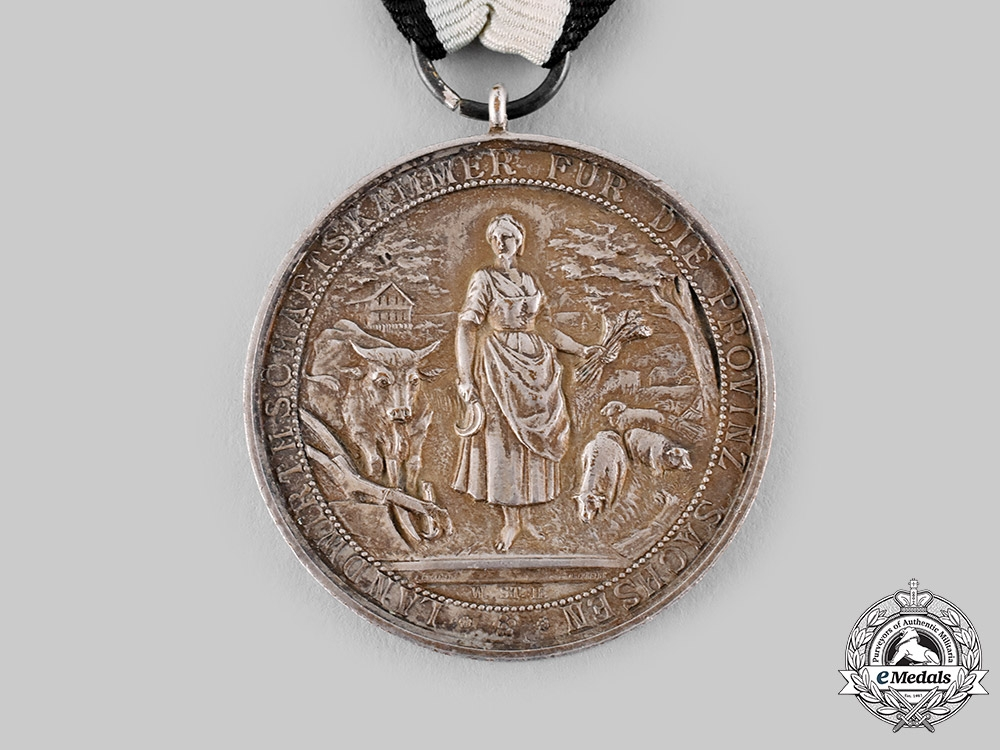 Saxony, Kingdom. An Agricultural Long Service Medal, by L. Christian Lauer