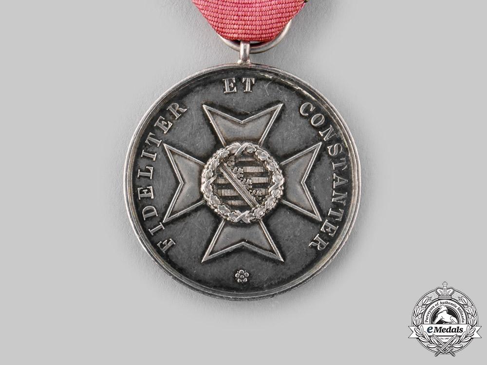 Saxe-Altenburg, Duchy. A Saxe-Ernestine House Orde, Silver Merit Medal